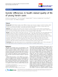 """báo cáo hóa học:""""  Gender differences in health related quality of life of young heroin users"""""""