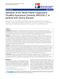 "báo cáo hóa học:"" Validation of the ""World Health Organization Disability Assessment Schedule, WHODAS-2"" in patients with chronic diseases"""
