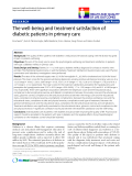 "báo cáo hóa học:""  The well-being and treatment satisfaction of diabetic patients in primary care"""