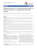 "báo cáo hóa học:""  Responsiveness of the Eating Disorders Quality of Life Scale (EDQLS) in a longitudinal multi-site sample"""