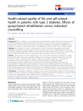 """báo cáo hóa học:""""  Health-related quality of life and self-related health in patients with type 2 diabetes: Effects of group-based rehabilitation versus individual counselling"""""""
