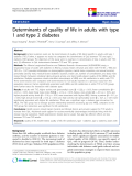 """báo cáo hóa học:""""  Determinants of quality of life in adults with type 1 and type 2 diabetes"""""""