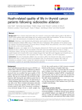 "báo cáo hóa học: "" Heath-related quality of life in thyroid cancer patients following radioiodine ablation"""