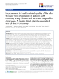 "báo cáo hóa học: "" Improvement in health-related quality of life after therapy with omeprazole in patients with coronary artery disease and recurrent angina-like chest pain. A double-blind, placebo-controlled trial of the SF-36 survey"""