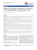 """báo cáo hóa học:"""" Quality of Life analysis of patients in chronic use of oral anticoagulant: an observational study"""""""
