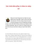 Quy trình nhân giống và chăm sóc măng cụt