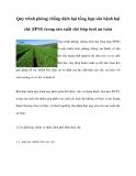 Quy trình phòng chống dịch hại tổng hợp sâu bệnh hại chè (IPM) trong sản xuất chè búp tươi an toàn