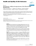 Health and Quality of Life Outcomes BioMed Central  Research  Open Access  Development, validity and