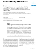 Health and Quality of Life Outcomes BioMed Central  Research  Open Access  The Hospital Anxiety and