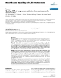 Health and Quality of Life Outcomes BioMed Central  Research  Open Access  Quality of life in lung