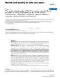 Health and Quality of Life Outcomes BioMed Central  Research  Open Access  The health related