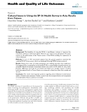 Health and Quality of Life Outcomes BioMed Central  Research  Open Access  Cultural Issues in Using