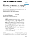 Health and Quality of Life Outcomes BioMed Central  Research  Open Access  Validity, reliability and