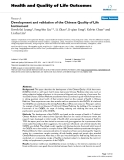 Health and Quality of Life Outcomes BioMed Central  Research  Open Access  Development and