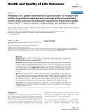 Health and Quality of Life Outcomes BioMed Central  Research  Open Access  Validation of a