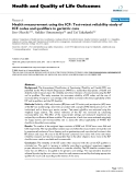 """báo cáo hóa học:"""" Health measurement using the ICF: Test-retest reliability study of ICF codes and qualifiers in geriatric care"""""""