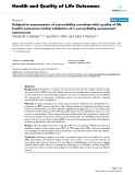 """báo cáo hóa học:""""  Subjective assessments of comorbidity correlate with quality of life health outcomes: Initial validation of a comorbidity assessment instrument"""""""
