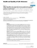 """báo cáo hóa học:"""" Differential effect sizes of growth hormone replacement on quality of life, well-being and health status in growth hormone deficient patients: a meta-analysis"""""""