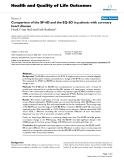 "báo cáo hóa học:""  Comparison of the SF-6D and the EQ-5D in patients with coronary heart disease"""