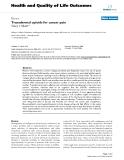 "báo cáo hóa học:"" Transdermal opioids for cancer pain"""