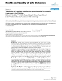 "báo cáo hóa học:""  Validation of a patient satisfaction questionnaire for anemia treatment, the PSQ-An"""