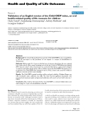 "báo cáo hóa học:"" Validation of an English version of the Child-OIDP index, an oral health-related quality of life measure for children"""