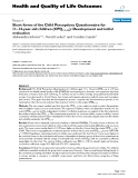 "báo cáo hóa học:"" Short forms of the Child Perceptions Questionnaire for 11–14-year-old children (CPQ11–14): Development and initial evaluation"""