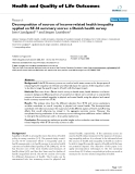 """báo cáo hóa học:"""" Decomposition of sources of income-related health inequality applied on SF-36 summary scores: a Danish health survey"""""""
