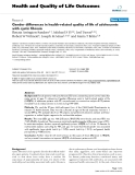 """báo cáo hóa học:"""" Gender differences in health-related quality of life of adolescents with cystic fibrosis"""""""