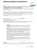 """báo cáo hóa học:""""  Physician-estimated disease severity in patients with chronic heart or lung disease: a cross-sectional analysis"""""""