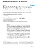 """báo cáo hóa học:""""  Measuring health-related quality of life in young adolescents: Reliability and validity in the Norwegian """""""