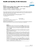 "báo cáo hóa học:"" Health-related quality of life in children with newly diagnosed cancer: a one year follow-up study"""