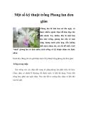Một số kỹ thuật trồng Phong lan đơn giản