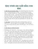 Quy trình sản xuất nấm rơm khô