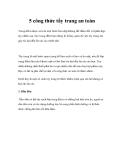 5 công thức tẩy trang an toàn