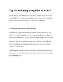 Top các xu hướng trang điểm năm 2012