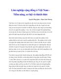 """Nghiên cứu khoa học """" Lâm nghiệp cộng đồng ở Việt Nam Tiềm năng, cơ hội và thách thức """""""