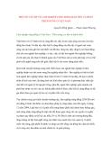 """Nghiên cứu khoa học """" MỘT SỐ VẤN ĐỀ VỀ LÂM NGHIỆP CỘNG ĐỒNG BẢO TỒN VÀ PHÁT TRIỂN RỪNG Ở VIỆT NAM """""""