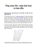 Ống nano Bo: cuộn kim loại và bán dẫn