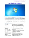 Các phím tắt của Windows 7