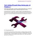 Xử lý những lỗi người dùng thường gặp với Windows 7