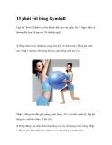 15 phút với bóng Gymball