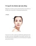 5 bí quyết cho khuôn mặt mùa đông