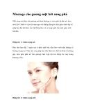 Massage cho gương mặt bớt sưng phù