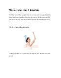 Massage cho vòng 1 hoàn hảo
