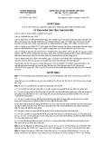 Quyết định số 62/2011/QĐ-UBND
