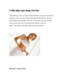 5 dấu hiệu bạn đang béo lên
