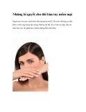 Những bí quyết cho đôi bàn tay mềm mại