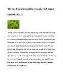 Tin học hóa nông nghiệp và cuộc cách mạng xanh thế kỷ 21