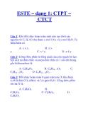 ESTE – dạng 1: CTPT – CTCT